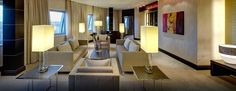 Die Präsidenten Suite verfügt über einen großzügigen Wohnbereich mit seperatem Esszimmer und Küche.