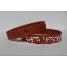 FIVE NIGHTS at FREDDY'S Brick Red Silicone Bracelet New FNaF Foxy FNaF... ($3.49) ❤ liked on Polyvore featuring bracelets, five nights and fnaf