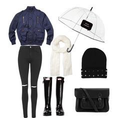Untitled #69 by fashionxstuff on Polyvore featuring polyvore fashion style Topshop Hunter The Cambridge Satchel Company Witchery Kate Spade