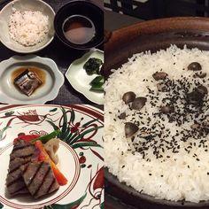 Tonight's other half Kaiseki course #gyu #kuroge #wagyu #japsbeef #gohan #yam #misosoup #kaiseki #happytummy #happygirl #octobertrip #longweekend #ryokan #atami #japan by enricalim