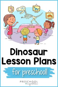 Done-for-you dinosaur lesson plans! There are several to choose from. Lessons about dinosaurs are the perfect preschool theme. Whether you make it Dino-vember or any month of the year, these super fun dinosaur lesson plans will not disappoint. Preschool Lesson Plans, Preschool Books, Preschool Themes, Preschool Classroom, Kindergarten Activities, Learning Activities, Dinosaur Songs, Dinosaur Theme Preschool, Dinosaur Activities