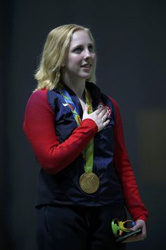 Virginia Thrasher wins first gold medal of Rio Olympics for USA in 10m air rifle