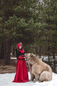 By Olga Barantseva On Px Olga Barantseva Pinterest Photos - Russian photographer takes enchanting fairytale photos featuring wild animals