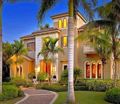 Very Miami like with the palm trees out front.