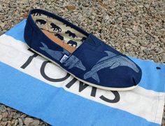 Dolphin TOMS Shoes by themattbutler on Etsy, $75.00. Want so bad!