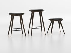 mater high stool, dark stained hard wood by space  www.materdesign.com