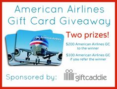 Gift Caddie is an awesome new site where you can share your wishlists with friends and family.  Get exactly what you want for your birthday and holidays.  Giveaway includes your chance to win a gift card to American Airlines.  Vegas here I come.