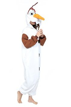 Your #1 Source for Halloween Costumes & Accessories » Newcosplay Polar Fleece Onesies Pajamas (L, Olaf)