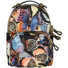 Valentino Small Backpack ($690) ❤ liked on Polyvore featuring bags, backpacks, multi, leather zip backpack, leather strap backpack, studded backpack, black backpack and leather daypack