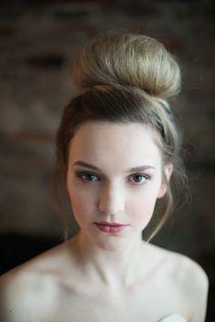 Ballerina bun and natural makeup | Whitney Heard Photography | see more on: http://burnettsboards.com/2014/03/3-wedding-worthy-hair-makeup/