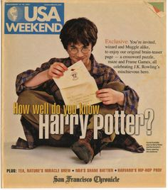 USA Weekend cover. San Francisco Chronicle. November 16-18, 2001. --I REMEMBER TAKING THIS QUIZ