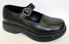 Dansko 'Jade' Black Leather Mary Jane Clog Size 37/US 6.5-7 #Dansko #Clogs