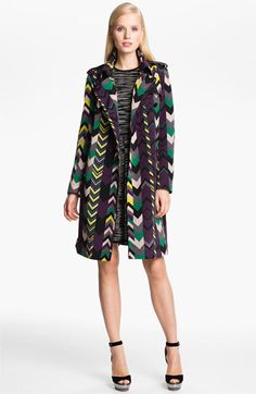 M Missioni Belted Zigzag Trench Coat | Nordstrom  $995  now here's a Missoni mix of patterns...