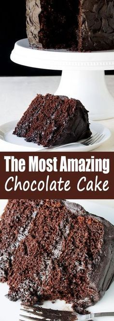 The Most Amazing Chocolate Cake is here I call this my Matilda Cake because I swear its just as good as the cake that Bruce Bogtrotter ate in Matilda Moist chocolaty perf. Brownie Desserts, Oreo Dessert, Mini Desserts, Just Desserts, Delicious Desserts, Dessert Ideas, Amazing Dessert Recipes, Dessert Tables, Cake Ideas
