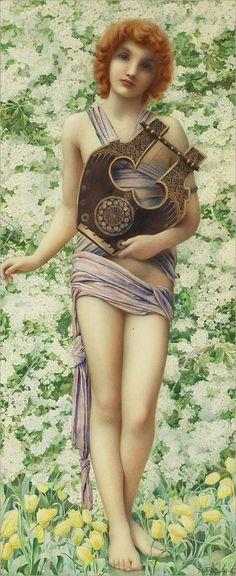 Henry Ryland (1856-1924) | Allegorie der musik