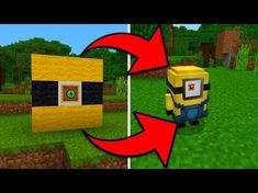 How To Spawn Minions in Minecraft Pocket Edition (Minion Addon) Minecraft Portal, Minecraft Cheats, Minecraft Secrets, Minecraft Plans, Amazing Minecraft, Minecraft Tutorial, Minecraft Blueprints, Minecraft Designs, Minecraft Creations