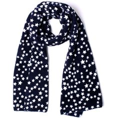 Stars All Over Navy Scarf ($30) ❤ liked on Polyvore