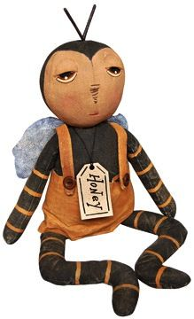 Primitive Folk Country Bee Doll