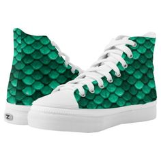 Large Green Mermaid Scales High-Top Sneakers   fishing christmas presents, fisherman gifts, fishing decorations #bamboorod #fishinggear #flyfishinggear, 4th of july party Fishing Decorations, Fisherman Gifts, Fly Fishing Gear, Live Fish, Mermaid Scales, Custom Sneakers, Christmas Presents, On Shoes, High Tops