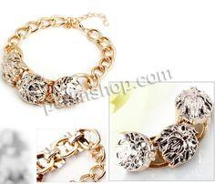 Verkupferter Kunststoff Armband, mit Aluminium, mit Verlängerungskettchen von 5cm, goldfarben plattiert, Twist oval, frei von Nickel, Blei & Kadmium, 5-15mm, verkauft per ca. 7 Inch1 Strang - perlinshop.com