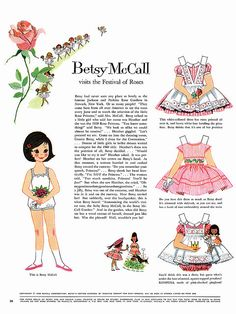 Betsy McCall Paper Dolls 1960 May-Aug, I loved Betsy! My grandmother got McCall's magazine, I got paper dolls! Paper Toys, Paper Crafts, Foam Crafts, Diy Paper, Paper Art, Vintage Paper Dolls, Free Paper, Childhood Memories, Doll Clothes
