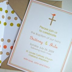 cute baptism invites