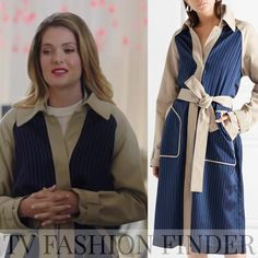 Meghann Fahy as Sutton Brady in navy and beige trench coat The Bold Type season 2 episode 10 Tall Girl Fashion, Fashion Tv, Modern Fashion, Fashion Outfits, Beige Trench Coat, Style Finder, Be Bold, Style Inspiration, Nalu