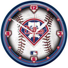 Philadelphia Phillies Round Clock http://www.fansedge.com/Philadelphia-Phillies-Round-Clock-_-329034928_PD.html?social=pinterest_pfid44-39627