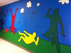Art Room 104: Keith Haring school mural