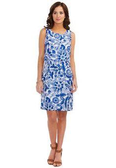 67effe76bc9 Cato Fashions Scalloped Pop-Over Dress-Plus  CatoFashions Mature Style