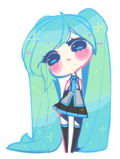 Little Miku. Pagedoll by Jiyuuri on @DeviantArt