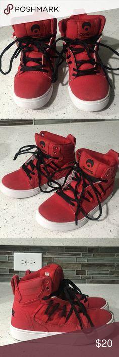 65b9e2584e0 Boys Osiris High Top Sneakers Boys Osiris High Top Sneakers Color: Red  Size: 12