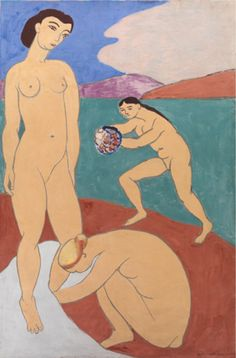 Painting by Henri Matisse (1869-1954), 1907-8, Le Luxe II, Distemper on canvas. © Henri Matisse © 2012 Succession H. Matisse / Artists Rights Society (ARS), New York #bather #ThreeGraces