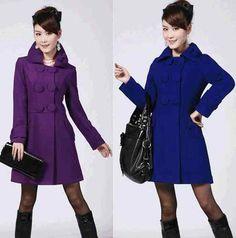 Free shipping NEW Women Wool Coat Slim Trench Coat Outwear Overcoat Jacket ,59.99$