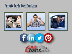 private party auto loans for bad credit