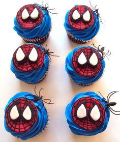 What little boy wouldn't love Spiderman cupcakes for his birthday party