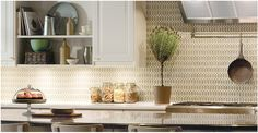 A closer look at the Walker Zanger mosaic used as a backsplash on a recent Ikea ad. www.worldmosaictile.com