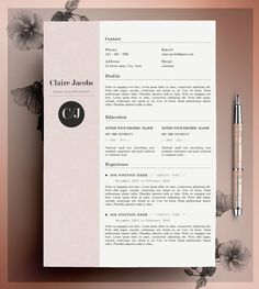 Cv Template  Cover Letter Template Word  Psd Fonts Included
