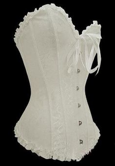 300e9dd7f Lovely white laced panelled corset! Corpete