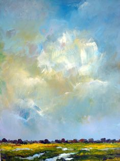 "Saatchi Online Artist: W Van de Wege; Acrylic 2012 Painting ""Nature and clouds"""