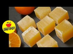 Today lets make this melt in your mouth confection, the traditional Orange Turkish Delight (Orange Lokum). This gelatin-free and naturally coloured recipe is. Nougat Recipe, Turkish Sweets, Melt In Your Mouth, Turkish Delight, Orange Zest, Artificial, Fudge, Treats, Snacks