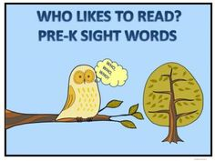 Who likes to Read Pre K Sight Words from Donna-Thompson on TeachersNotebook.com -  (15 pages)  - This product is practice reading task cards. This product is to help with reading through word recognition by learning sight words. There are forty words. A bird identification sheet included. $