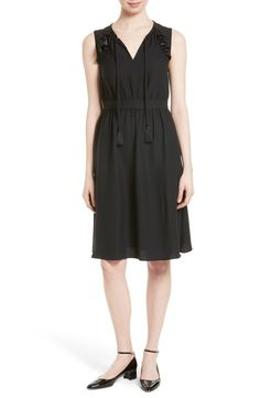 Main Image - kate spade new york ruffle crepe fit & flare dress
