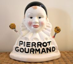 A very lovely French Pierrot Gourmand lollipops stand  This stands were on display in the best French bakeries!