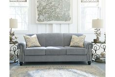 Aramore Sofa, by Ashley HomeStore, Fog Couch Furniture, Living Room Furniture, Furniture Dolly, Sofa Design, Interior Design, Queen Sofa Sleeper, Ashley Home, Perfect Pillow, Living Room Sets