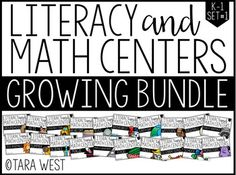 """Kindergarten and First Grade Themed Literacy and Math Centers Yes, this is a BRAND NEW set of centers!  Best news?  They are ON SALE at a crazy awesome """"buy in price"""".  Save $100 on this set of 280 centers! Thanks so much for viewing my Kindergarten and First Grade Literacy and Math Centers!"""