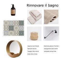 Come rinnovare il bagno spendendo poco - my touch design Lampe Gras, Meraki, Zara Home, Towel, Design, Ideas, Light Bulb Vase, Hampers, Design Comics