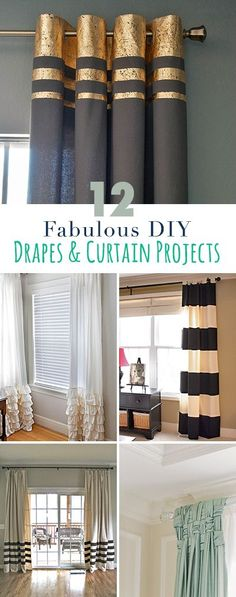 12 Fabulous DIY drapes and curtain projects • Ideas, tips and tutorials! • Explore our blog for more great DIY projects and home decorating ideas!