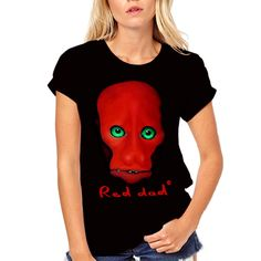 RED DAD - T-shirt Vladimir Shvayukov's painting. T-shirts only of black color. Dads, Stylish, Artist, T Shirt, Painting, Color, Black, Design, Women