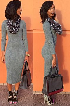 Love this length in a sweater dress!!